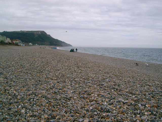 Beach Seaton Devon  Storm