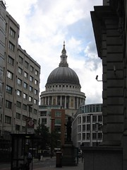 St Paul's cathedral framed by surrounding buildings looking south | by adewale_oshineye