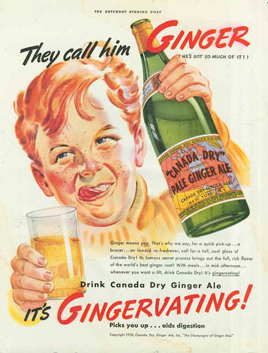 Canada Dry Ginger Ale ad, 1930s | by bayswater97