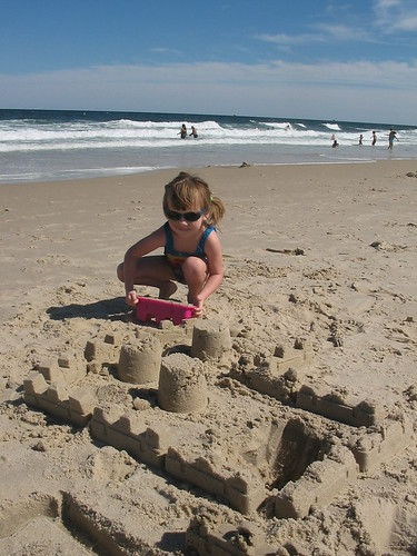 Building sand castles at the Jersey shore | by s_mestdagh