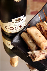 Gosset Champagne and Duck Rolls | by wine_scribbler