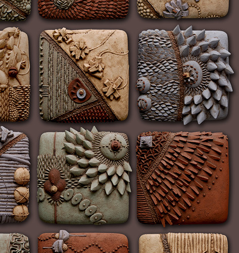 Cho rising detail ceramic mural detail chris gryder for Clay tile designs