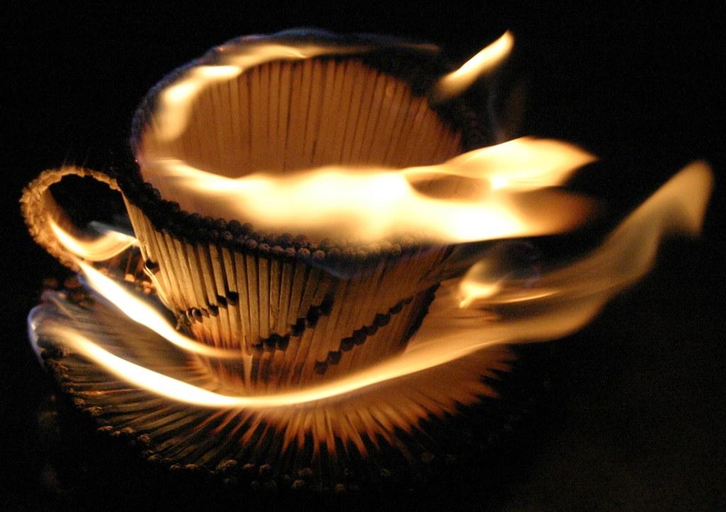 Чашка из спичек своими руками схема