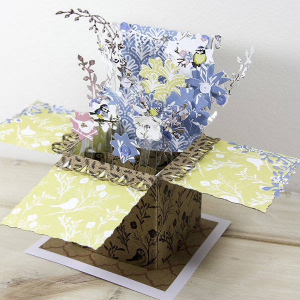 Pretty spring crafts - pop up box card
