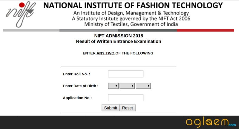 NIFT Result 2018 Declared!   Check Here
