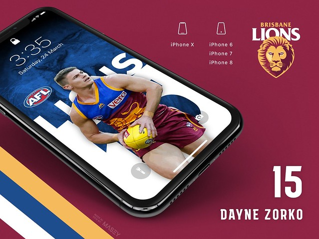 Dayne Zorko (Brisbane Lions) iPhone Wallpaper