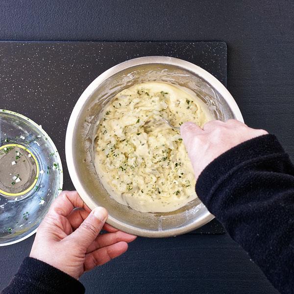 Tercer paso: mezclar las dos partes