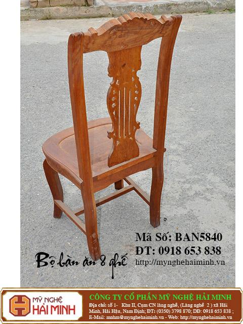 BAN5840d Bo Ban An 8 ghe do go my nghe hai minh