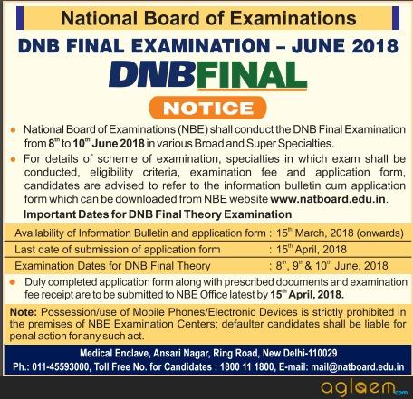 DNB Final Exam June 2018