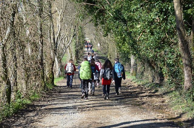 Young pilgrims, Camino de Santiago, Galicia