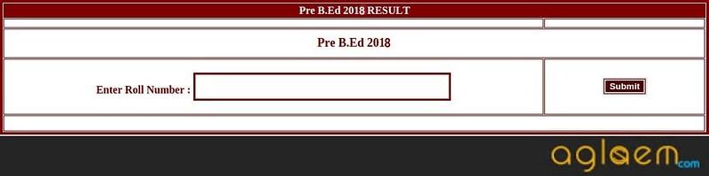 CG Pre BEd 2018 Result