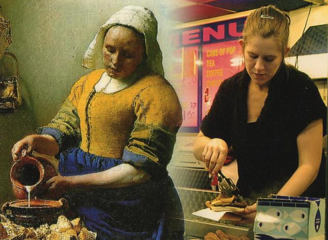 Vermeer and burgers