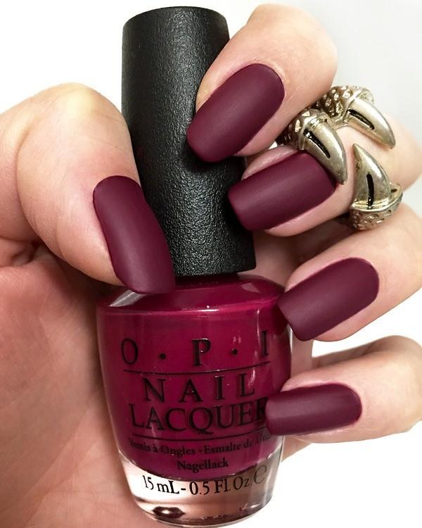 matte-nails-burgundy-red-color-solid-color-manicure | Flickr
