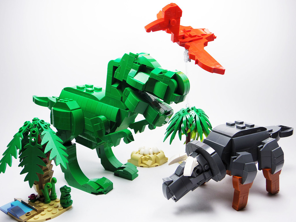 An upscaled tribute to the original lego dinosaurs the - Lego dinosaures ...