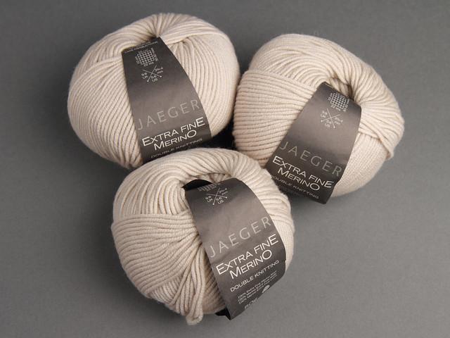 Destash yarn: Jaeger Extra Fine Merino DK 50g – 936 'Oatmeal'