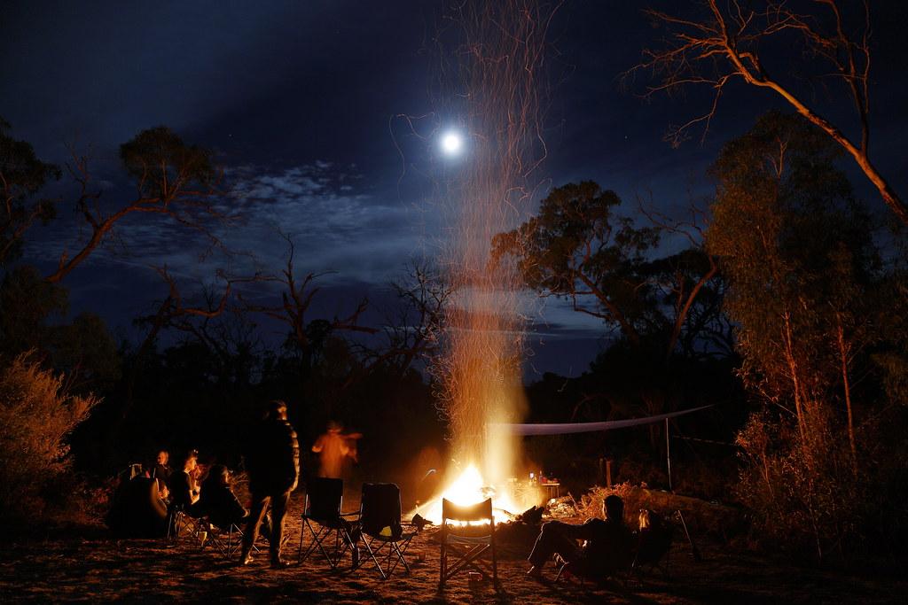Campfire and Easter Full Moon | Victoria Range. Grampians ...