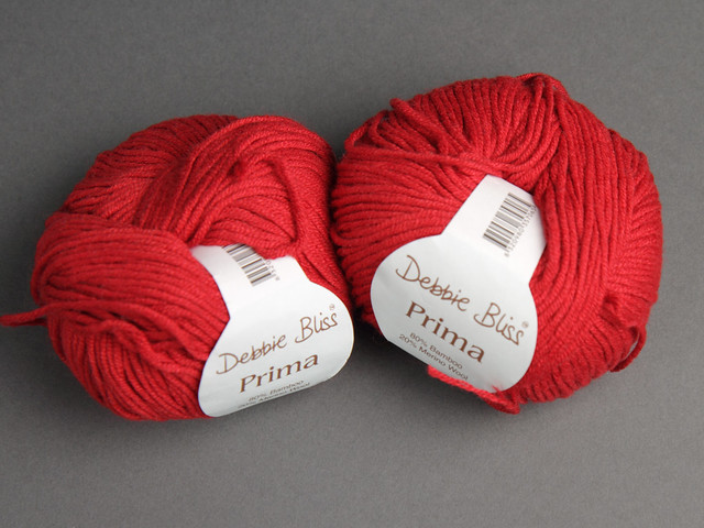 Destash yarn: Debbie Bliss Prima DK Merino Bamboo 50g balls – Red 35706