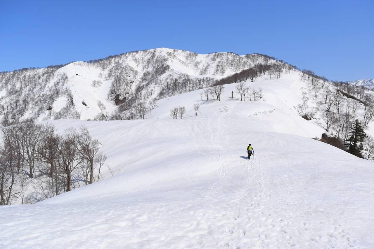 残雪の日向倉山