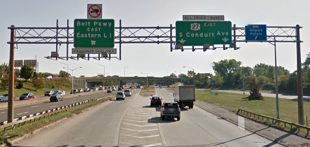 First Warning Sign Entering Belt Parkway From I-678 Leaving JFK Airport