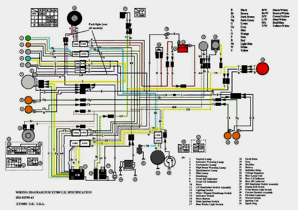 discovered another wiring diagram yamaha xt500 tt500 forum rh xt500 co