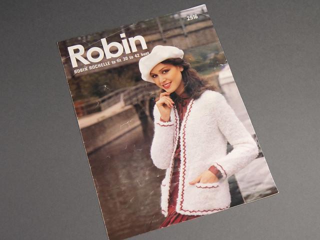 Robin 2916 Women's Bouclé Jacket Vintage Pattern Leaflet