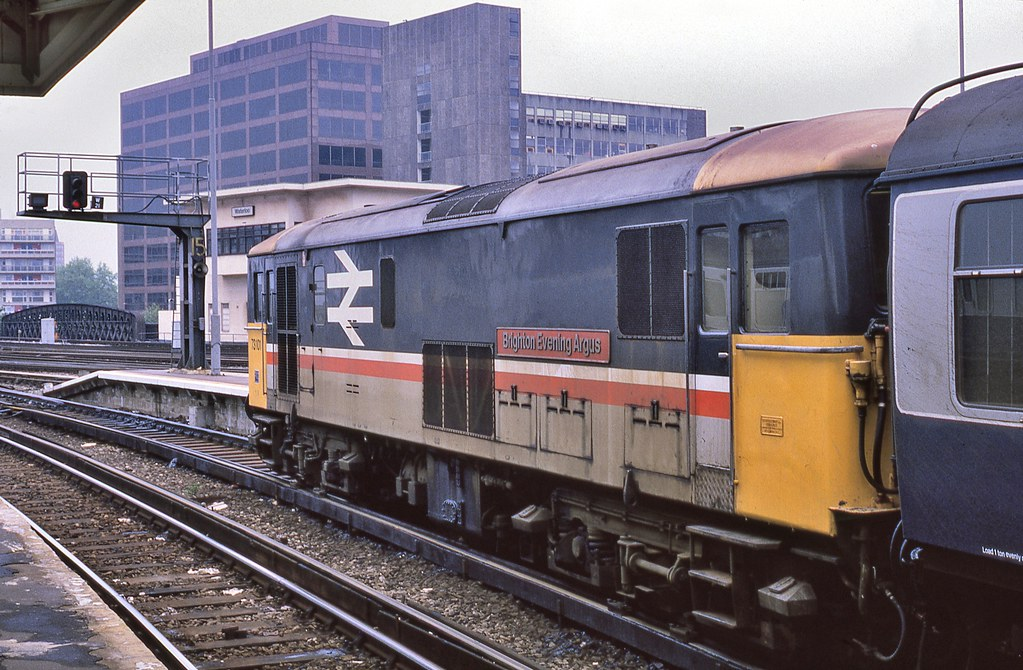 73101 brighton evening argus at waterloo with an empty s. Black Bedroom Furniture Sets. Home Design Ideas