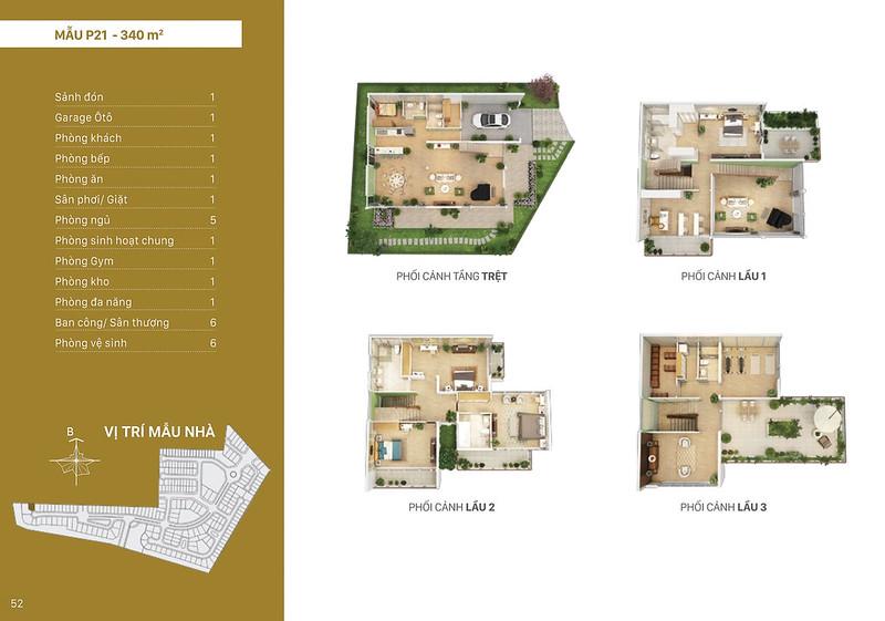 Mẫu thiết kế P21 biệt thự đơn lập Villa Park
