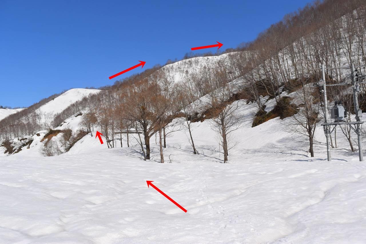 日向倉山登山ルート