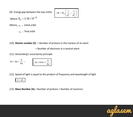 Important Notes of Chemistry for NEET, JEE: Structure of Atom