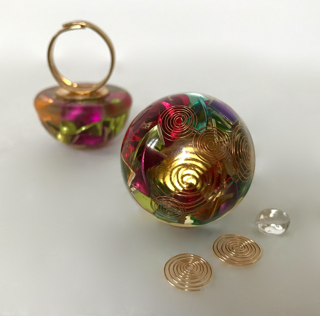 Orgone Energy Rings   Handmade in Paris, France with Copper