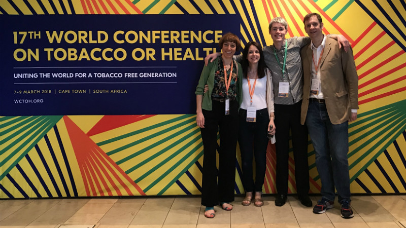 Members of the Tobacco Control Research Group at the 13th World Conference on Tobacco or Health.