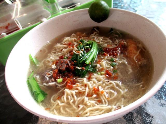 Alibaba mee kampua sup sapi