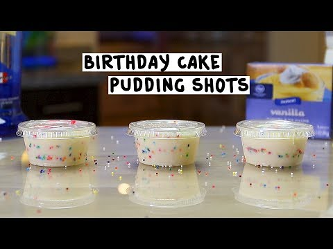 Groovy Birthday Cake Pudding Shots Tipsy Bartender These Fun Pu Flickr Funny Birthday Cards Online Fluifree Goldxyz