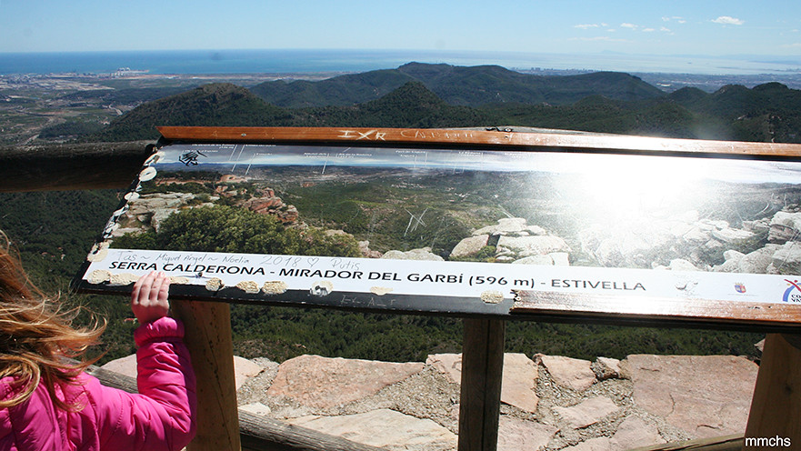 mirador de El Garbí en la sierra Calderona Estivella