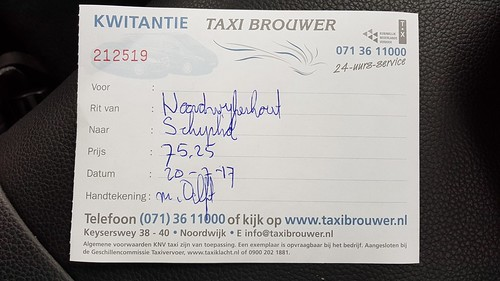 Taxi receipt | by hugovk