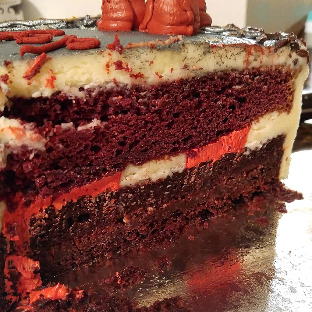 Red Velvet Birthday Cake Another Years Birthday Cake Done Flickr