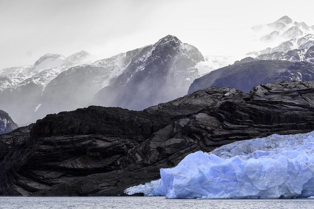 Snow Drift Granite : Glacial rays blue ice granite snow drift and of