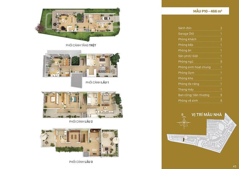 Mẫu thiết kế P10 biệt thự đơn lập Villa Park