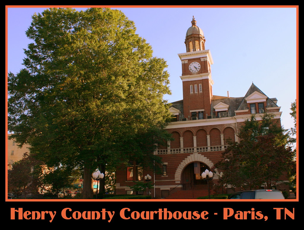 Henry county courthouse paris tn tn post card 42 hen flickr henry county courthouse paris tn by seemidtn aka brent sciox Choice Image