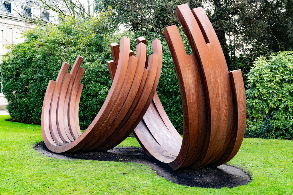 217.5º ARC x 12 by Bernar Venet (Cor-Ten Steel)   004