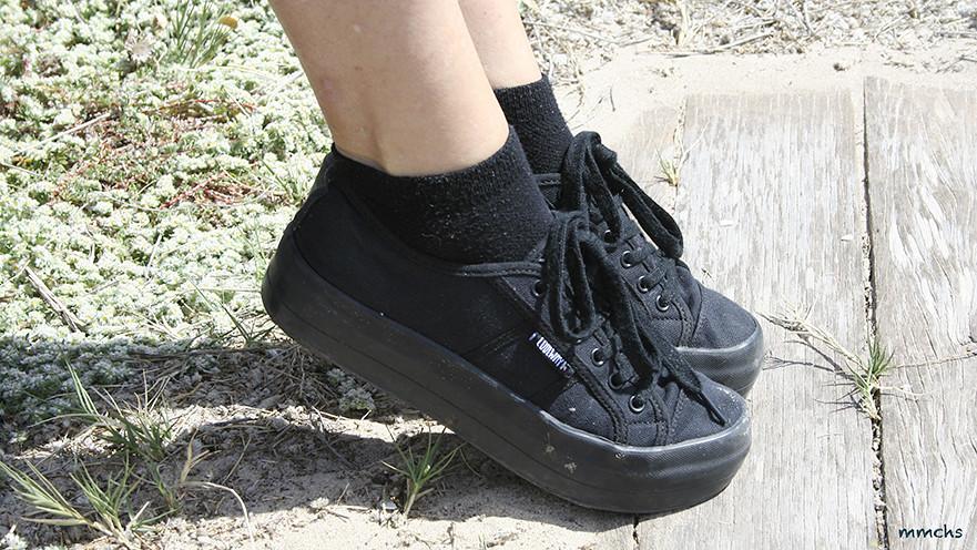 zapatillas de doble plataforma