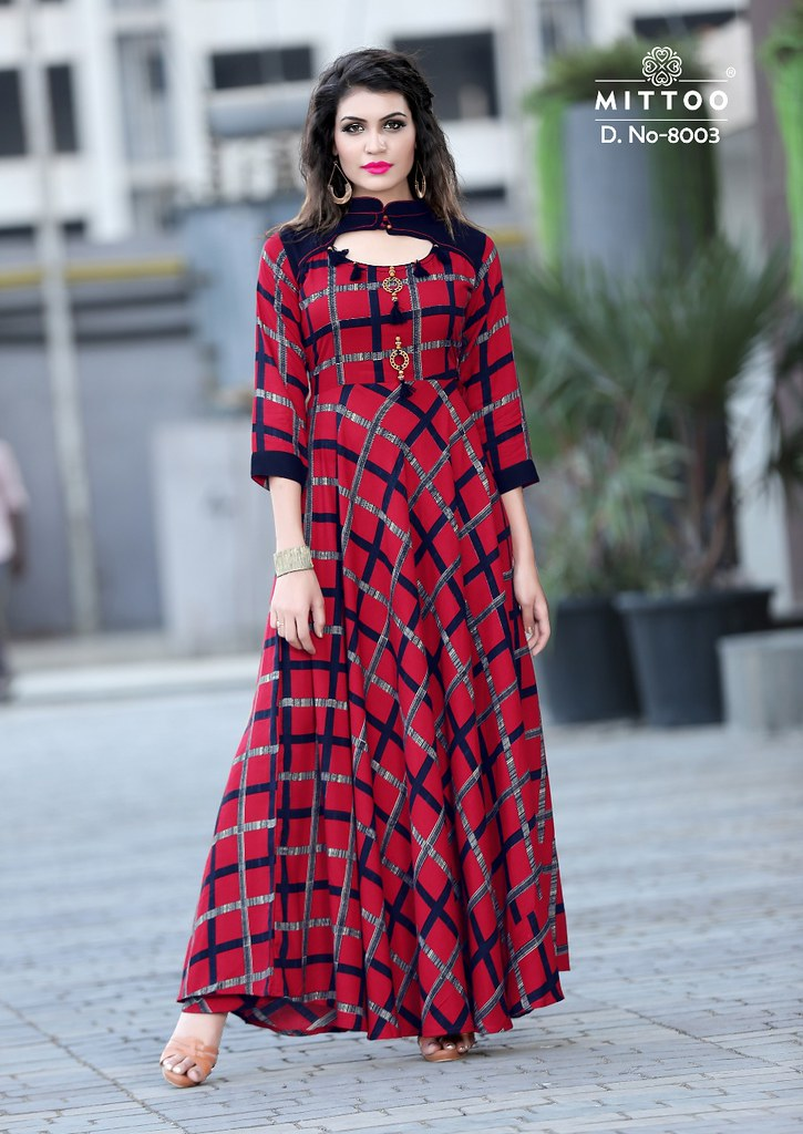 Mittoo Prasang Party wear long gown buy online at Wholesal…   Flickr