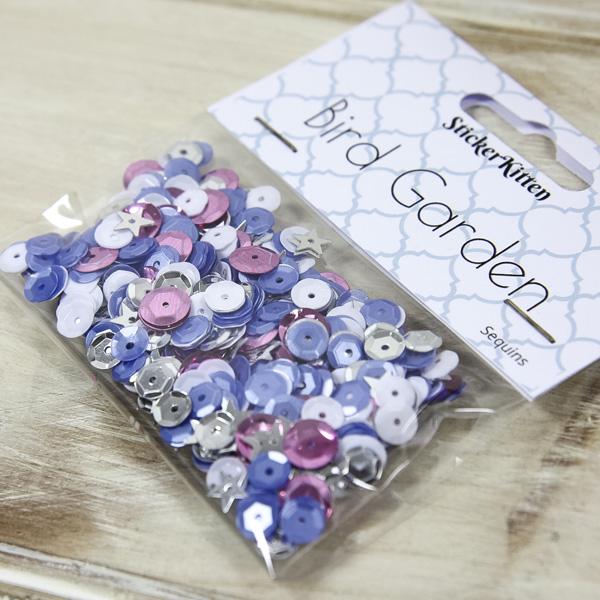 StickerKitten Bird Garden craft range - sequins