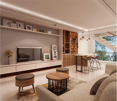 Thiết kế phòng giải trí nhà mẫu dự án nhà phố Bùi Tư Toàn