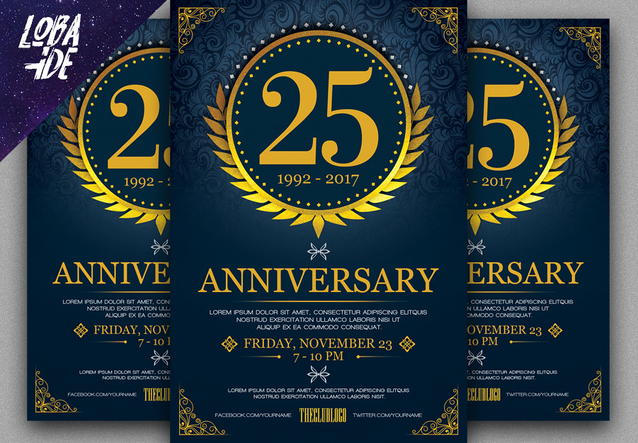 Anniversary Flyer Template 1 Photoshp File Psd 4x6 With Flickr