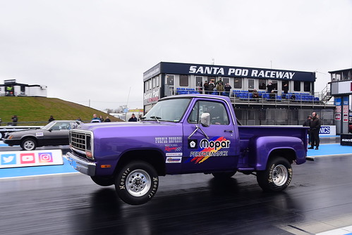 Niel Watkins, Dodge Pick Up, Pro ET, Festival of Power, Santa Pod 2018