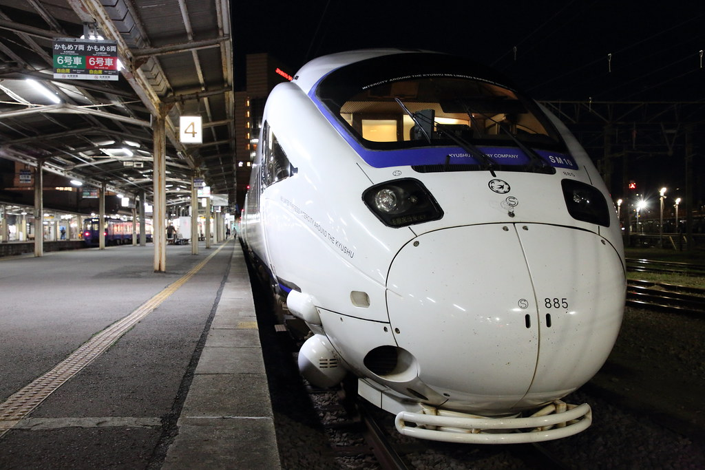 night train the limited express kamome located nagasaki flickr