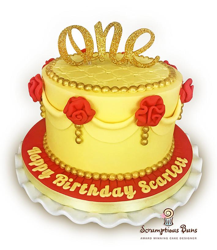 Beauty The Beast Birthday Cake Vanilla Sponge 7 Cake Fo Flickr