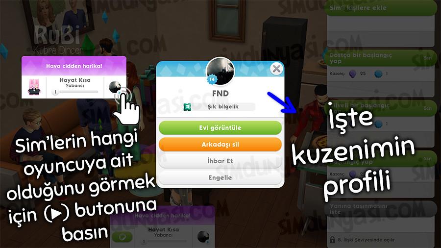 The Sims Mobile Parties Parti Vermek Arkadaş Sim'iyle Bağlantı Kurmak Sim'i Kişilere Eklemek