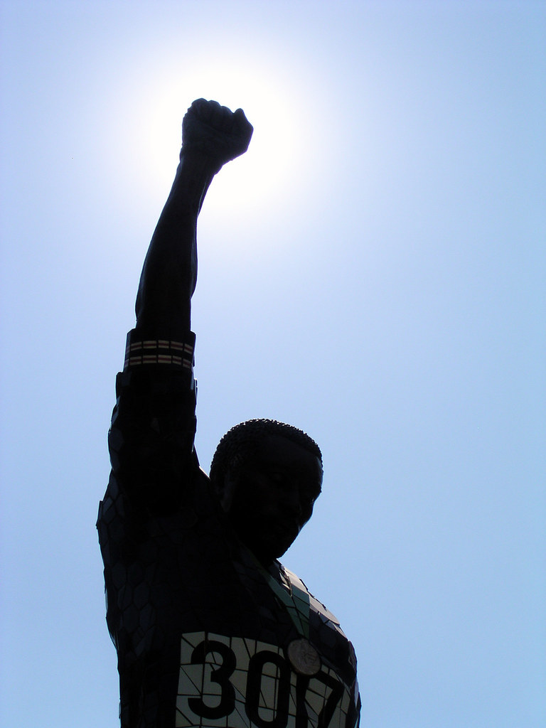 About >> Bravery | A statue honoring Tommie Smith and John Carlos at … | Flickr